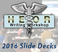 2016 HEOR and Market Access Writing Workshop