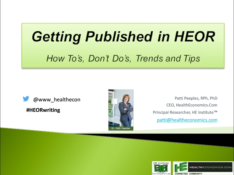 HEOR Writing Webinar Series Six.